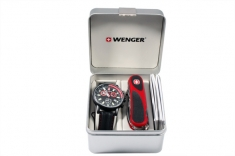 Набор наручые часы Wenger Commando Chrono 70731.XL  и нож EvoGrip 1.17.59.821