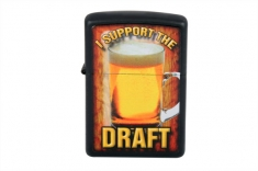 Зажигалка  ZIPPO 28294 I SUPPORT THE DRAFT BLACK MATTE