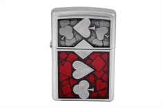 Зажигалка  ZIPPO 24850 SUITED EMBLEM SATIN CHROME