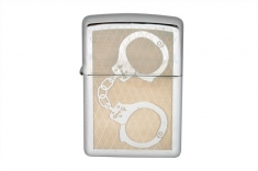 28287 Зажигалка ZIPPO HANDCUFFS BLING HIGH POLISH CHROME