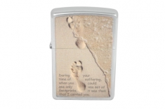 Зажигалка Zippo  28180 Footprint in Sand Brushed Chrome
