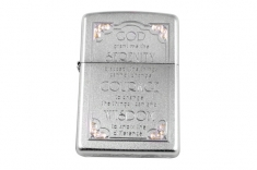 Зажигалка Zippo  28458 Serenity Prayer Satin Chrome