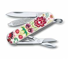 "Нож Victorinox Classic ""Happy Folks"" 0.6223.L1603 ,58 мм,7 предметов"